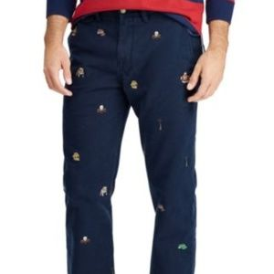 Polo Ralph Lauren Embroidered Navy Pants 33W x 32L